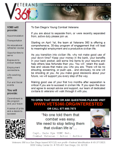 Veterans 360 Recruiting Poster